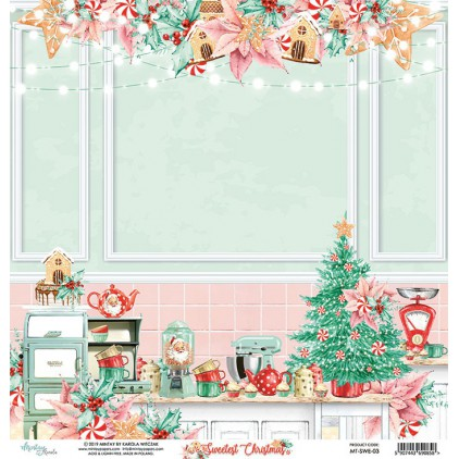 MT-SWE-03 Scrapbooking paper 30 x 30 cm -The Sweetest Christmas - Mintay Papers