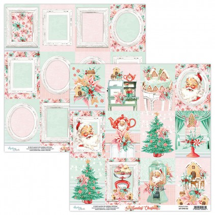 MT-SWE-06 Scrapbooking paper 30 x 30 cm -The Sweetest Christmas - Mintay Papers