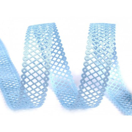 Openwork grille satin tape blue