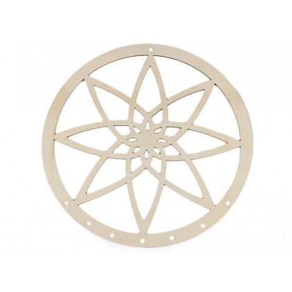 Dreamcatcher wooden rim with mandala