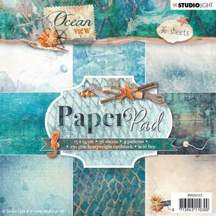 PPOV117 - Bloczek papierów scrapowych 15x15cm - Stucio Light Ocean Wiev