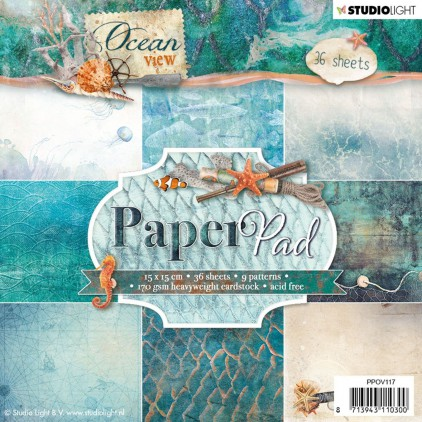PPOV117 - Ocean View Paper Pad - 15x15cm - Studio Light