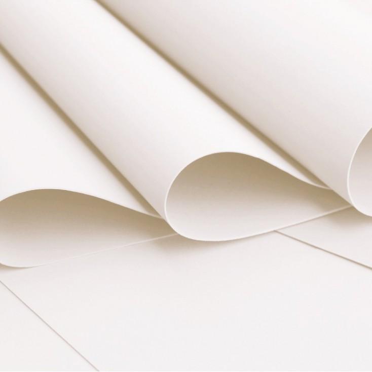 Foamiran, pianka artystyczna -jedwabna - biała