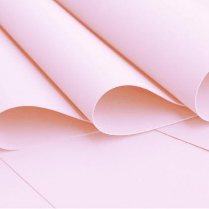 Foamiran, pianka artystyczna -jedwabna - jasno rózowa