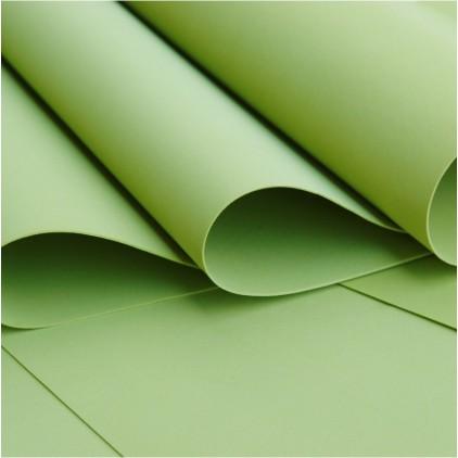 Foamiran, pianka artystyczna -jedwabna - zielona