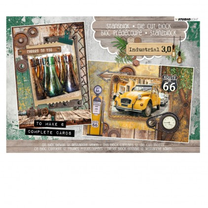 Industrial 3,0 - Scrapbooking Die cut block - A5 (14,8x21cm) - Studio Light - A5STANSBLOKIN21