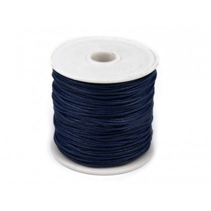 Waxed twine -dark navy blue - one spool