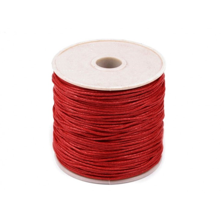 Waxed twine - red strawberry - one spool