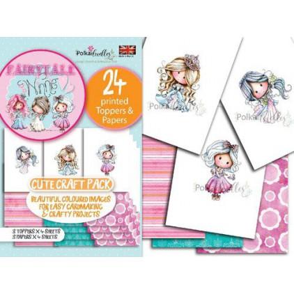 PD7925 - Winnie & Friends Fairytale Cute craft pack - Polka doodles Ltd.