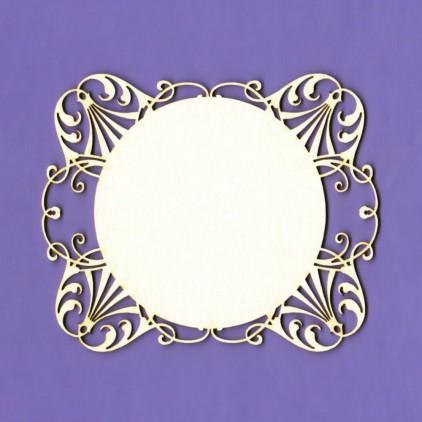 1270 - laser cut, chipboard frame Royall 1 - Crafty Moly