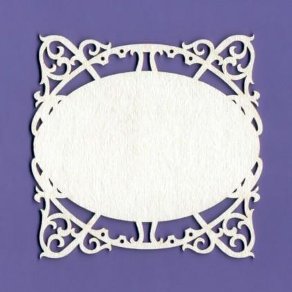 1270 - laser cut, chipboard frame Mystery 10- Crafty Moly