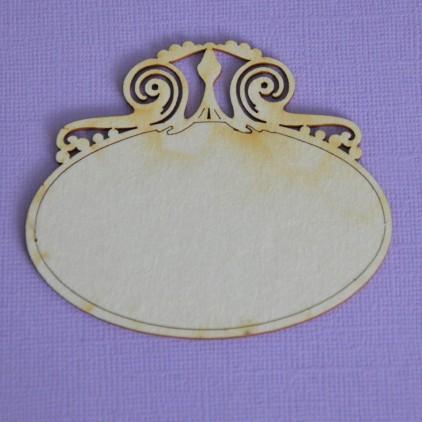 1357 - laser cut, chipboard frame Royall 7 - Crafty Moly
