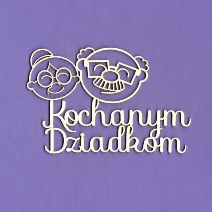 1372 - tekturka napis Kochanym Dziadkom- Crafty Moly