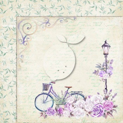 LP-MSP06 - Double-sided scrap paper - Lemoncraft - My sweet Provence 06