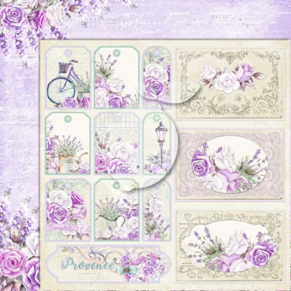 LP-MSP05 - Double-sided scrap paper - Lemoncraft - My sweet Provence 05