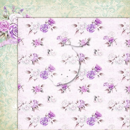 LP-MSP04 - Double-sided scrap paper - Lemoncraft - My sweet Provence 04