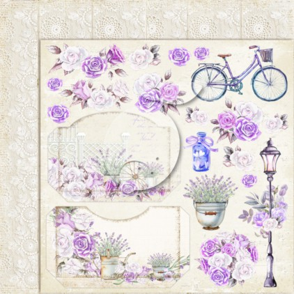 LP-MSP03 - Double-sided scrap paper - Lemoncraft - My sweet Provence 03