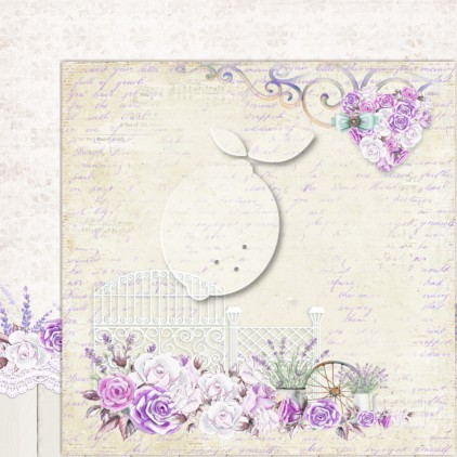 LP-MSP02 - Double-sided scrap paper - Lemoncraft - My sweet Provence 02