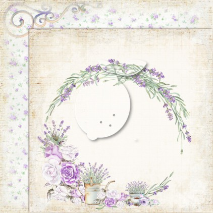 LP-MSP01 - Double-sided scrap paper - Lemoncraft - My sweet Provence 01