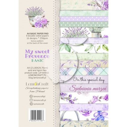 LZP-MSP02 - Pad scrap papers 21x29cm - Lemoncraft - My sweet Provence Basic