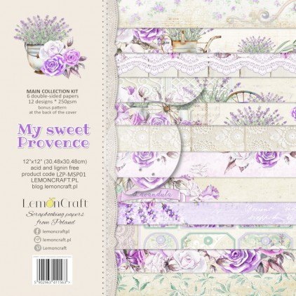 LZP-MSP01 - Set of scrap papers 30x30cm - Lemoncraft -My sweet Provence