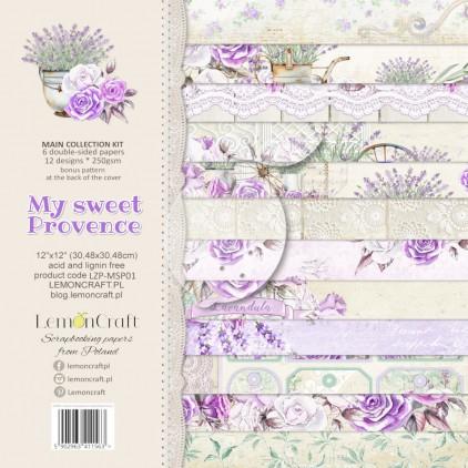 LZP-MSP01 - Zestaw papierów scrapowych 30x30cm - Lemoncraft - My sweet Provence