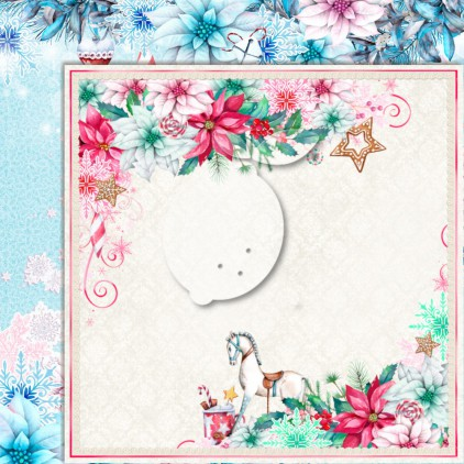 LP-JTW06 - Double-sided scrap paper - Lemoncraft - Joy to the world 06