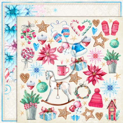 LP-JTW05 - Double-sided scrap paper - Lemoncraft - Joy to the world 05