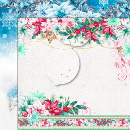 LP-JTW01 - Double-sided scrap paper - Lemoncraft - Joy to the world 01