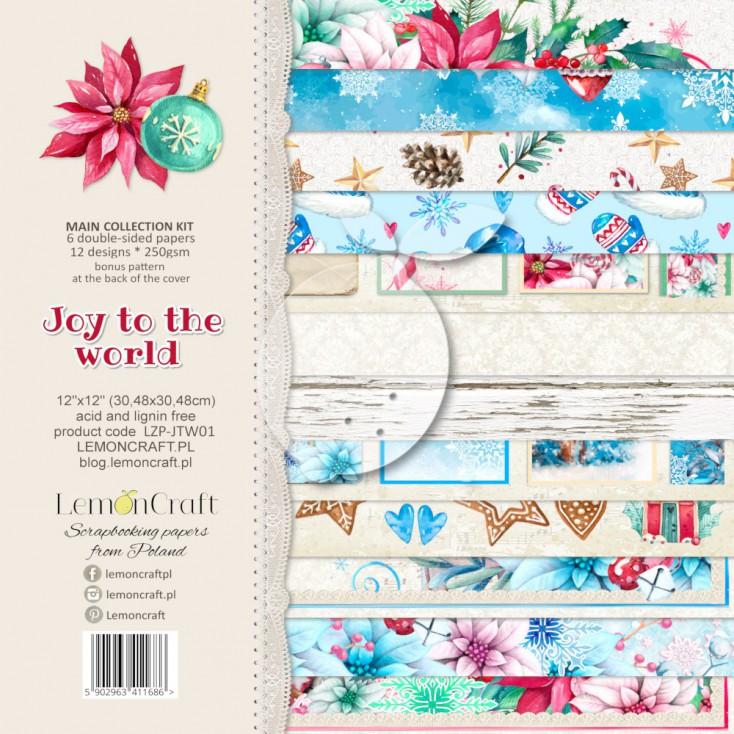 LZP-JTW01 - Set of scrap papers 30x30cm - Lemoncraft - Joy to the world