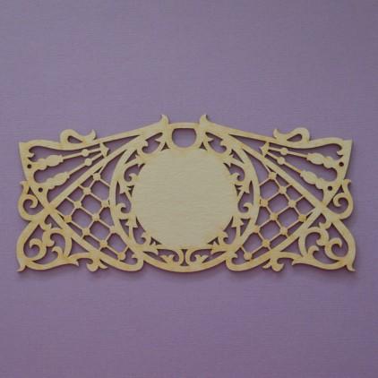 1099 - laser cut, chipboard frame Mystery 2- Crafty Moly