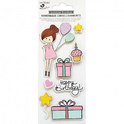 CR79810 Happy Birthday - Zestaw naklejek - Little Birdie