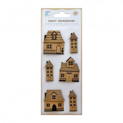 CR39083 Printed House - Zestaw naklejek - Little Birdie