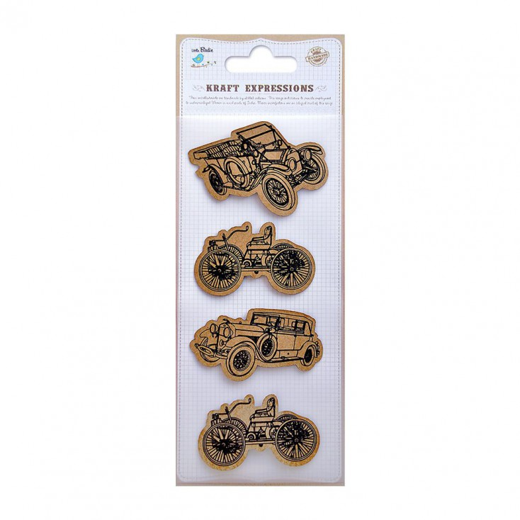 CR39073 Printed Vintge Cars - Stickers set - Little Birdie