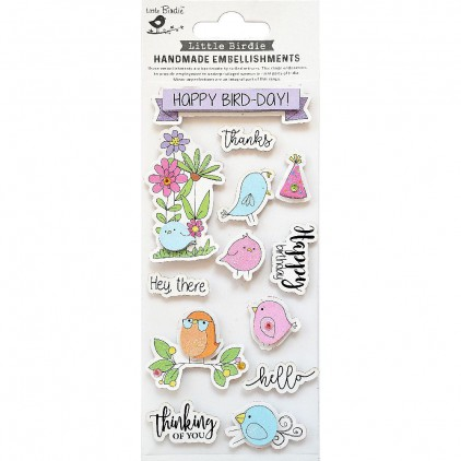 CR79817 Happy  Bird - Zestaw naklejek - Little Birdie