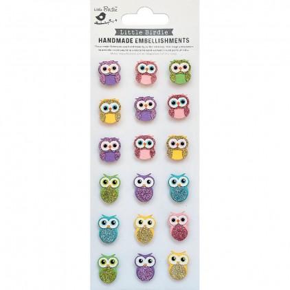CR78685 Owls - Zestaw naklejek - Little Birdie