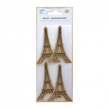 CR39079 Printed Eiffel Tower - Zestaw naklejek - Little Birdie