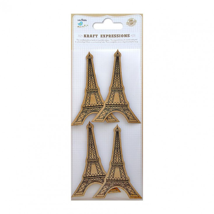 CR39079 Printed Eiffel Tower - Stickers set - Little Birdie