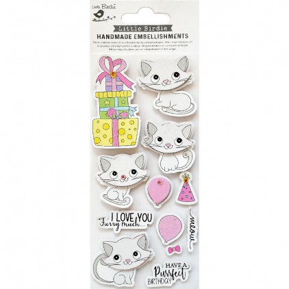 CR79815 Purrfect Birthday -Stickers set - Little Birdie