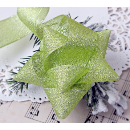 Light green brocade ribbon