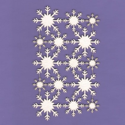 322 - laser cut, chipboard Snowflakes 03 - set - Crafty Moly