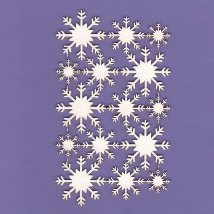 322 - tekturka Śnieżynki 03 - zestaw - Crafty Moly