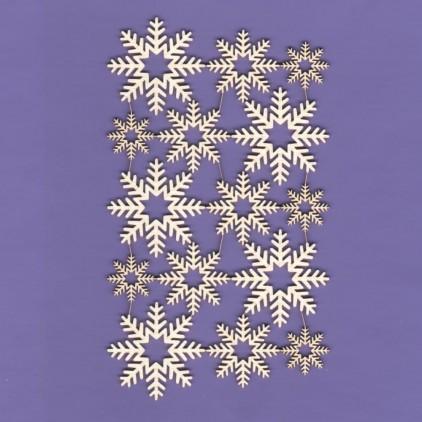 329 - tekturka Śnieżynki 05 - zestaw - Crafty Moly