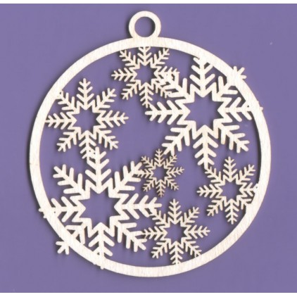 343 - laser cut, chipboard Christmas bauble - set - Crafty Moly