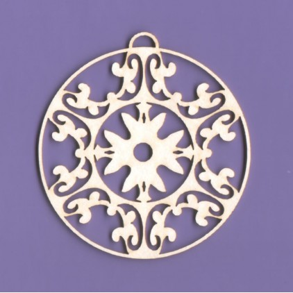 144 - laser cut, chipboard Delicate Christmas ornament- Crafty Moly