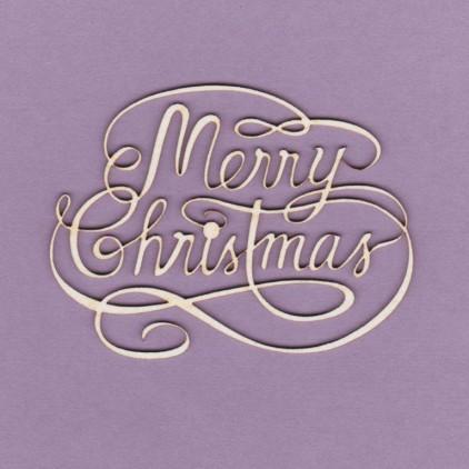 594 - laser cut, chipboard Merry Christmas - Crafty Moly