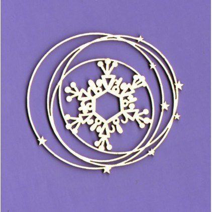 792 - laser cut, chipboard Winter collection - Snow frame 1 - Crafty Moly