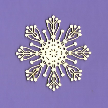 551- laser cut, chipboard Winter collection - Snowflake 2 - Crafty Moly