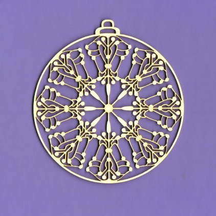 225 - laser cut, chipboard Winter collection - bauble 2 - Crafty Moly