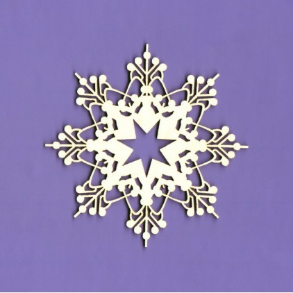 1089 - laser cut, chipboard winter collection snowflake 5 Crafty Moly